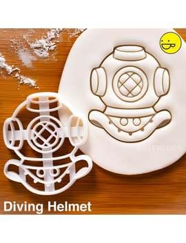Diving Helmet Cookie Cutter | Nautical Retro Steampunk Cookies Diver Divers Party Vintage Scuba Diving Underwater Undersea Navy Bon Voyage by Etsy