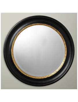 John Lewis & Partners Circle Wall Mirror, Dia.68cm, Black/Gold by John Lewis & Partners