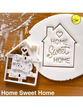 Home Sweet Home Cookie Cutter | Bakerlogy Biscuit Cutters Love Heart Housewarming Party Invitation Dessert New House Key Welcome Door Mat by Etsy