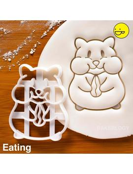 Hamster Eating Cookie Cutter   Bake Cute Animal Themed Birthday Party Or Kawaii Baby Shower by Etsy