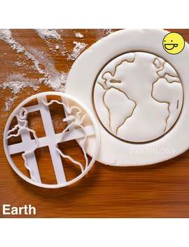 Planet Earth & Other Space Themed Cookies Cutters Biscuits Fondant Clay Cheese Sugarpaste Marzipan Mould Cutter One Of A Kind Spaceman Ooak by Etsy