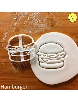 Hamburger Cookie Cutter | Fast Food Biscuit Cutters Summer Birthday Party Burgers Bar Patties Beef Patty Fastfood Decorations Cheeseburger by Etsy