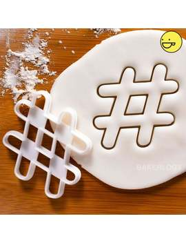 Hashtag Cookie Cutter Suitable For Fondant Biscuit Dough Clay Cheese # Hash Tag Tags Hashtags | One Of A Kind Ooak by Etsy