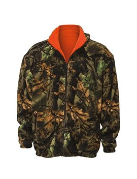 Trailcrest Kid's Reversible Camo & Blaze Orange Fleece Hunting Jacket   Full Zip Warm Coat by Trail Crest