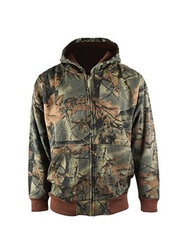 Trail Crest Boy's Camo Full Zip Up Hooded Sweatshirt Hunting Jacket, Full Zip by Trail Crest