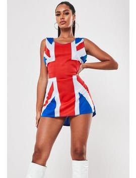 Blue Union Jack Print Mini Dress by Missguided