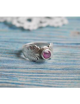 Vintage Estonian 916 Silver Ring With Pink Rhinestone. Ussr Era. Tallinn Jewelry Factory 1979. by Etsy
