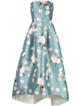 Floral Strapless Dress by Sachin & Babi