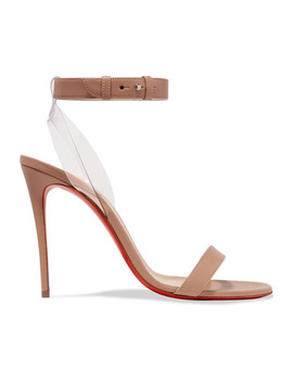 Jonatina 100 Pvc Trimmed Leather Sandals In Neutral by Christian Louboutin