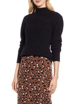 Puff Shoulder Sweater by Halogen
