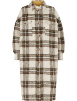 Gabrion Oversized Checked Brushed Felt Coat by Isabel Marant Étoile