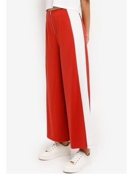 High Waist Colorblock Panel Pants by Something Borrowed