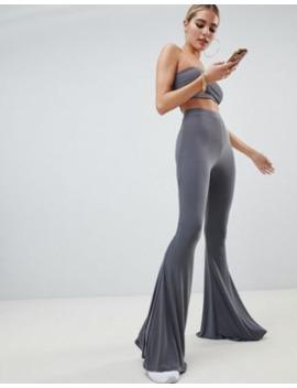 Fashionkilla Flared Trouser Co Ord In Grey by Fashionkilla's