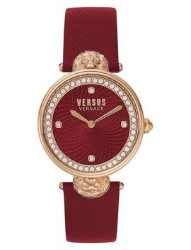 Versus Versace Victoria Leather Strap Watch, 34mm by Versace