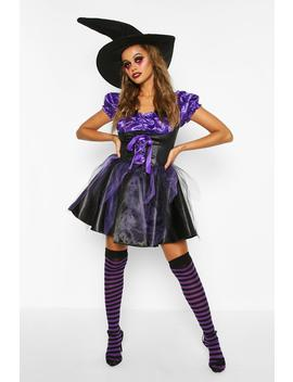 Halloween Witch Costume With Hat by Boohoo
