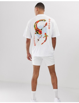 Oversized T Shirt Med Fiskeprint På Ryg Fra Asos Design Tall by Asos Design