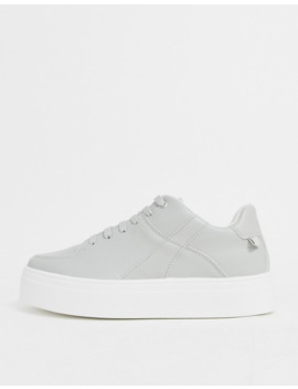 Asos Design Destiny Chunky Flatform Trainers In Grey by Asos Design