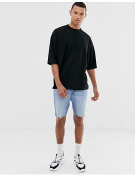 Oversize T Shirt Med Halvlange ærmer Og Neonfarvet Tigerprint På Ryggen Fra Asos Design Tall by Asos Design