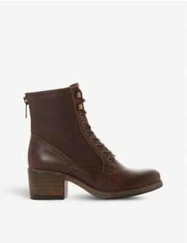 Painter Grained Leather Heeled Ankle Boots by Bertie
