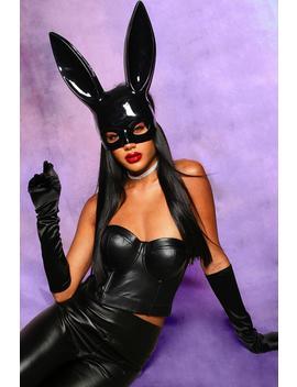 Halloween Bunny Half Mask by Boohoo