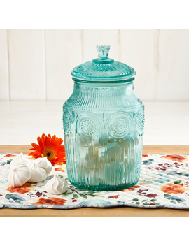 The Pioneer Woman Adeline Glass Canister, Multiple Colors by The Pioneer Woman