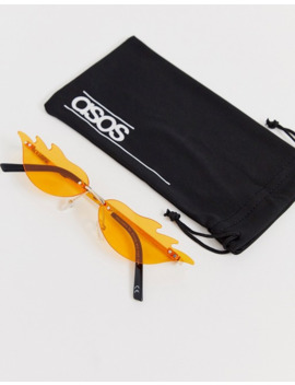 Asos Design   Briller I Flamme Look Med Orange Linser by Asos Design