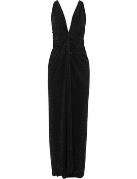 Twisted Crystal Embellished Crepe Gown by Alexandre Vauthier