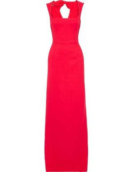 Cutout Bow Embellished Cady Gown by Antonio Berardi