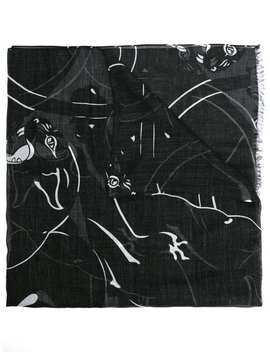 Panther Print Scarf by Valentino