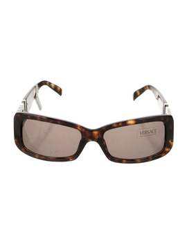 Acetate Square Sunglasses by Versace