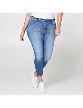 Belle Curve Slim Ankle Jeans   Light Blue by Target