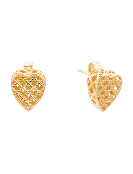 Made In Italy 18k Gold Diamantissima Heart Stud Earrings by Tj Maxx