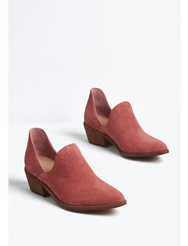 Ready To Go Leather Upper Bootie by Modcloth