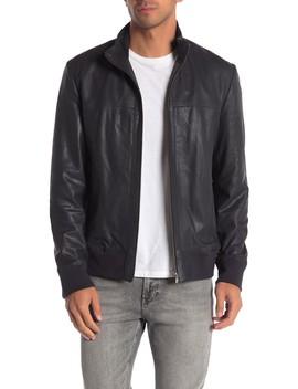 Jaren Zip Front Leather Jacket by Lamarque