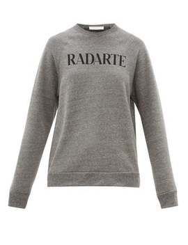 Radarte Print Fleece Back Jersey Sweatshirt by Rodarte