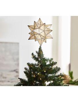 Capiz Star Tree Topper, White by Pottery Barn