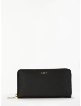 Dkny Bryant Park Leather Medium Zip Around Purse, Black by Dkny