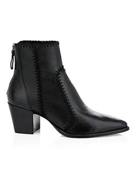 Benta Leather Booties by Alexandre Birman