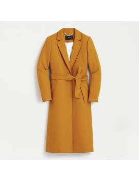Petite Wrap Coat In Double Serge Wool by J.Crew