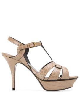 Tribute 75mm Sandals by Saint Laurent