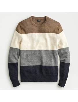 Cotton Wool Stripe Crewneck Sweater by J.Crew