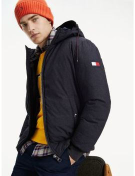 Structured Hooded Bomber by Tommy Hilfiger