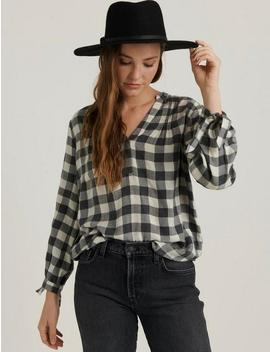 Cady Gingham Popover Shirt by Lucky Brand