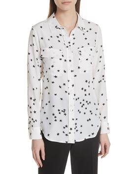 'starry Night' Silk Shirt by Equipment