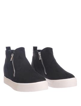 Taylor By 7, High Top Hidden Wedge Sneaker   Women Zipper Laceless Round Toe Shoe by Soda