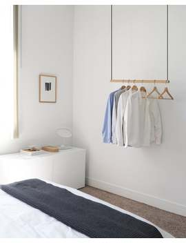 Hanging Clothes Rack   Ceiling Mounted Hanging Clothes Rack   Modern Clothes Rack By Kroft by Etsy