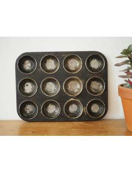 vintage-baking-tray---vintage-muffin-tin by etsy