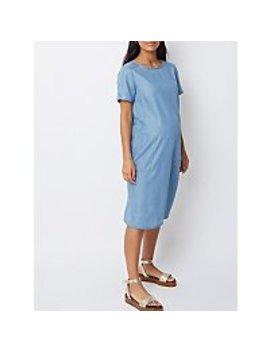 Maternity Denim Midi Shift Dress by Asda