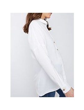 Maternity White Button Down Shirt by Asda