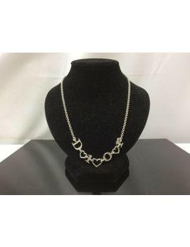 "Ath Christian Dior Silver Tone Heart ""Dior"" Fashion Necklace Pendant 9 D030420n by Christian Dior"